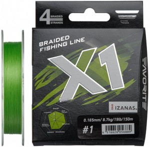 фото Шнур Favorite X1 PE 4x 150m (l.green) #1.0/0.165mm 19lb/8.7kg (16931130) #2