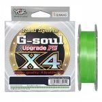 Шнур YGK G-Soul X4 Upgrade 100m #0.2/4lb ц:салатовый (55450131)