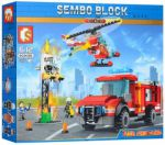 Конструктор Sembo Block 'Пожарная техника', 317 деталей (SD603035)