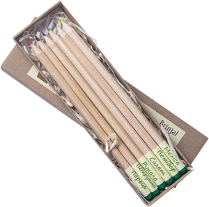 фото Подарунковий суперкомплект: набір 6 кольорових олівців з насінням рослин + 3 квіткових горщики + малиновий чай 'Кохай. Цінуй. Радій' #5