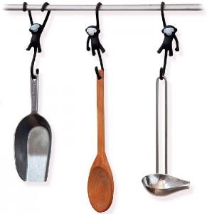 фото Крючки для кухни Monkey Business 'Just Hanging', черные (MB937) #3