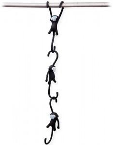 фото Крючки для кухни Monkey Business 'Just Hanging', черные (MB937) #2