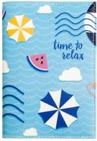Подарок Обложка для паспорта 'Time to relax' (PDK2313)