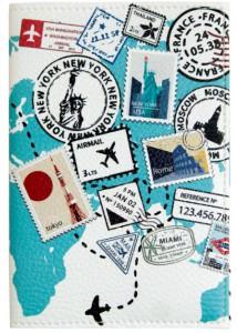 Подарок Обложки для паспорта 'Марки' (PDK2331)