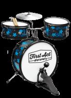 Барабанная установка + сидение First Act Discovery Black W/Blue Stars (FD3018)