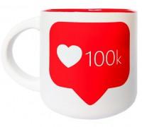 Подарок Чашка '100К' 350 мл (PDP3430)