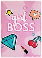 Подарок Обложка для паспорта 'Girl BOSS' (PDK2301)