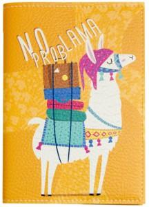 Подарок Обложка для паспорта 'No prob lama' (PDK2310)