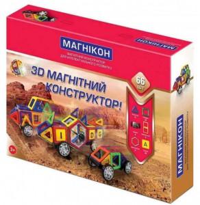 3D магнитный конструктор Магникон 66 детали (МК-66)