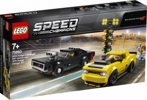 Конструктор LEGO Speed Champions'Автомобили 2018 Dodge Challenger SRT Demon и 1970 Dodge Charger R/T ' (75893)