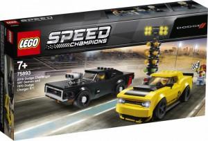 Конструктор LEGO Speed Champions'Автомобили 2018 Dodge Challenger SRT Demon и 1970 Dodge Charger R/T ' (75893)