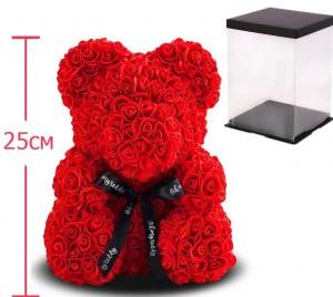 фото Мягкая игрушка UFT Bear Flowers B1 Red Мишка из роз 25 см (B1Red) #2