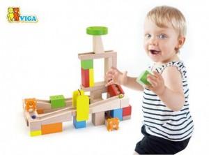 фото Деревянный динамический конструктор Viga Toys 'Занимательные горки' (51619) #2