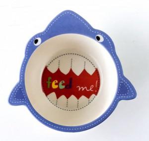 фото Детская бамбуковая посуда UFT 'Акула' набор из 2-х тарелок, чашки, ложки и вилки (UFTBP2) #2