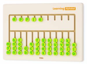 Обучающая настенная игрушка-бизиборд Viga Toys 'Алфавит' (50674)