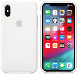 Чехол для смартфона Apple iPhone XS Max Silicone Case - White (MRWF2)