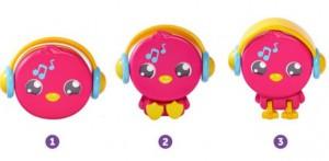 фото Детский свисток Tomy 'Музыкальная птичка' розовый (T72813C-1) #3