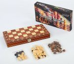 фото Шахматы деревянные Xinliye 3в1 на магнитах (W7702) #2