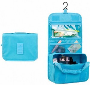 Подарок Органайзер для косметики 'Bei Lian Toiletry Pouch' Голубой (top-703)