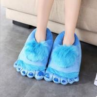 Подарок Плюшевые тапочки 'Ноги первобытного человека' Blue (top-705)