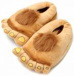 Подарок Плюшевые тапочки 'Ноги первобытного человека' Brown (top-706)