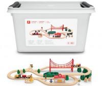 Деревянная железная дорога  Mitu Toy Train Set 63 Pcs (Ф02347)