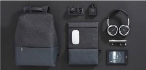 фото Рюкзак RunMi 90 Points of urban simple shoulder bag Light Gray (Р30994) #2