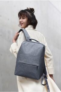 фото Рюкзак RunMi 90 Points of urban simple shoulder bag Light Gray (Р30994) #8