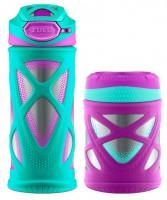 Подарок Подарочный набор термос для еды и термобутылка  Zulu Kids Water Bottle and Canister Set - Teal 355 мл (438-2451-903)