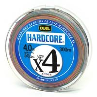 Шнур Duel  Hardcore X4 300m 21kg Multicolor #4 (H3254M)