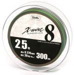 Шнур Duel Super X-Wire 8 Eight 300m 0.270mm 20kg Multicolor #2.5 (H3431)