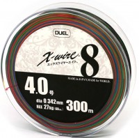 Шнур Duel Super X-Wire 8 Eight 300m 0.342mm 27kg Multicolor #4 (H3433)
