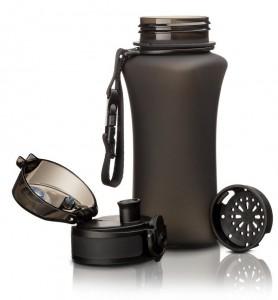 фото Бутылка для воды спортивная Uzspace  (350ml) черная (6007BK) #4