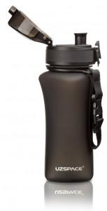 фото Бутылка для воды спортивная Uzspace  (350ml) черная (6007BK) #6