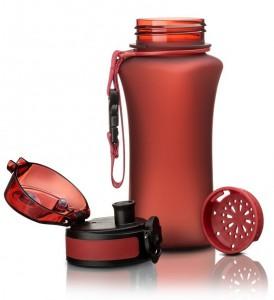 фото Бутылка для воды спортивная Uzspace  (350ml) красная  (6007RD) #3