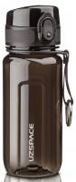 Бутылка для воды спортивная Uzspace  (350ml) черная (6017black)