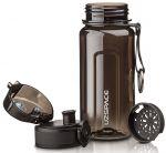 фото Бутылка для воды спортивная Uzspace  (350ml) черная (6017black) #2
