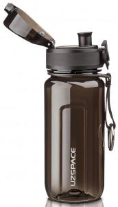 фото Бутылка для воды спортивная Uzspace  (350ml) черная (6017black) #3