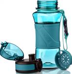 фото Бутылка для воды спортивная Uzspace (350ml) голубая (6009cyan) #3