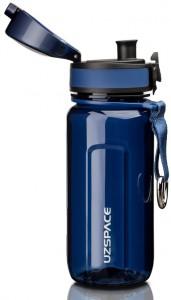 фото Бутылка для воды спортивная Uzspace (350ml) синяя (6017blue) #2
