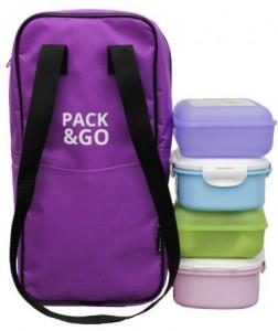 фото Термосумка ланч-бэг Pack&Go Bottle Bag, фиолетовый #4