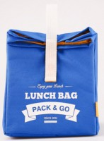 Термосумка ланч-бэг Pack&Go Lunch Bag L, голубой
