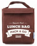 Термосумка ланч-бэг Pack&Go Lunch Bag M, коричневый