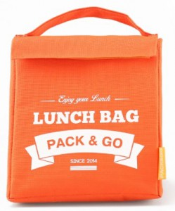 Термосумка ланч-бэг Pack&Go Lunch Bag M, оранжевый