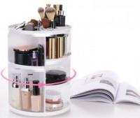 Подарок Органайзер вращающийся для макияжа на 360 (White)