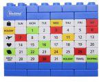 Подарок Вечный Календарь Lego Blue