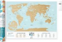 Подарок Скретч-карта мира Travel Map 'Holiday Lagoon World'