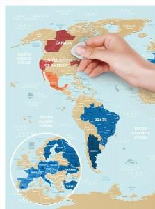 фото Скретч-карта мира Travel Map 'Holiday Lagoon World' #3