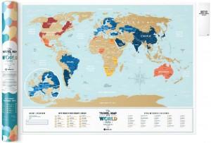 фото Скретч-карта мира Travel Map 'Holiday Lagoon World' #2
