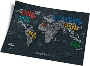 Подарок Скретч-карта мира Travel Map 'Letters World'